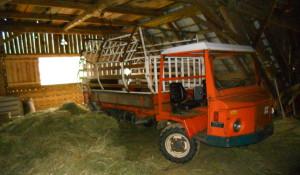 Risiko: Traktor oder Muli auf der Tenne
